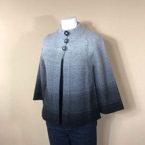Jones of NY Stylish Grey/Black Ombré Sweater PS